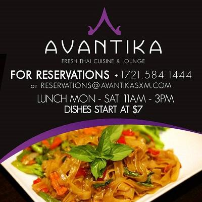 avantika lunch sxm