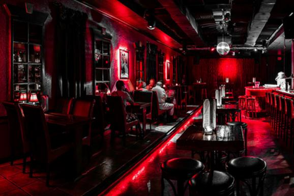 Red piano bar