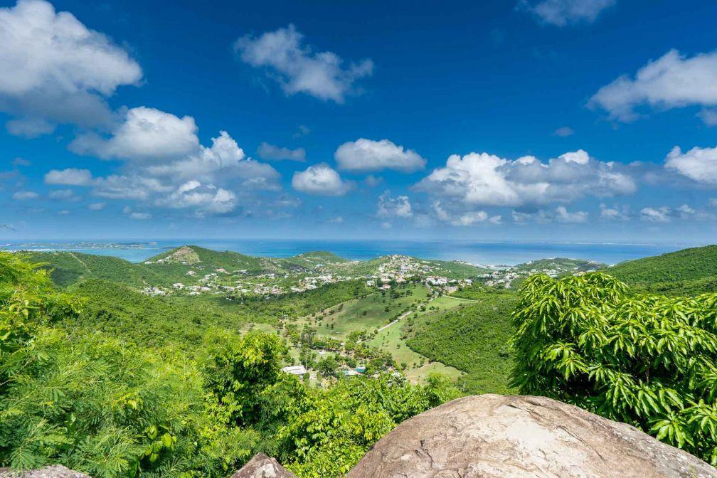View from the hills Dutch Sint Maarten